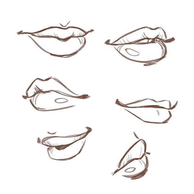 Body parts challenge day 23 mouth art inspo pinterest bodies drawings and drawing reference