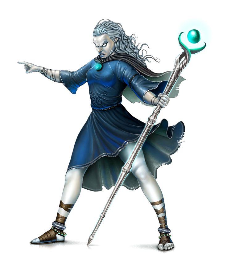 Female Cloud Giant Sorcerer or Wizard - Pathfinder PFRPG DND D&D d20 fantasy