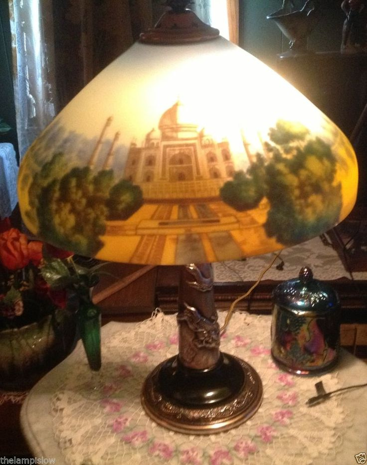 222 best Reverse painted Glass Lamps images on Pinterest | Glass ...