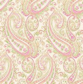 Dutch ;Wallcoverings ;Maison Chic behang  Artikelnummer: 2665-22044  Adviesprijs ;per rol €42,50  Afmetingen 10M lang ;x 52CM breed  Patroon: 53CM  Kleur: créme, beige, ;roze, groen  Behangplaksel: Perfax roze  Kwaliteit: vliesbehang