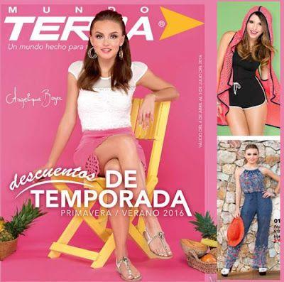Catalogo Terra Descuentos Outlets Primavera Verano 2016. Moda mexicana en oferta. Mundo Terra