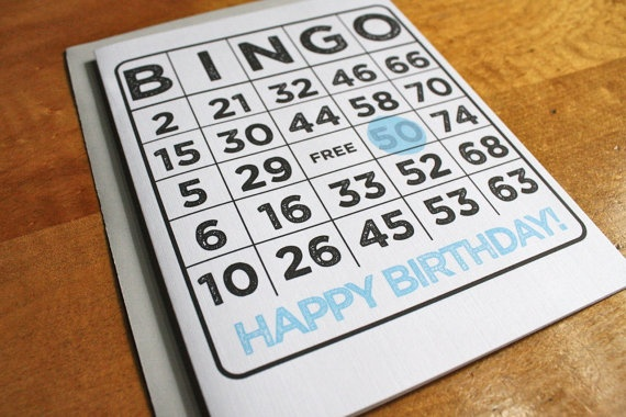 Customized Age Birthday Bingo Card by ColettePaperie on Etsy, $ 5.50