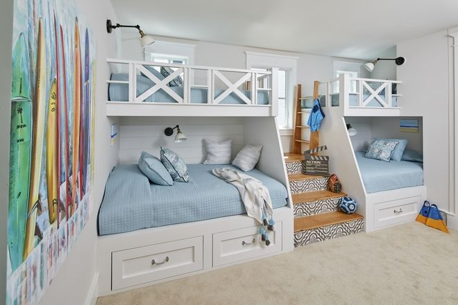 Custom Bunkbeds Each Bunk Is Outfitted With Individual Lights