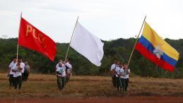 Au dernier jour d'une Conférencenationale inédite à El Diamante (sud-est) le 23 septembre, les Farc ont exprimé leur soutien à l'accord de paix conclu le 24 août avec le gouvernement colombien. | JOHN VIZCAINO / REUTERS