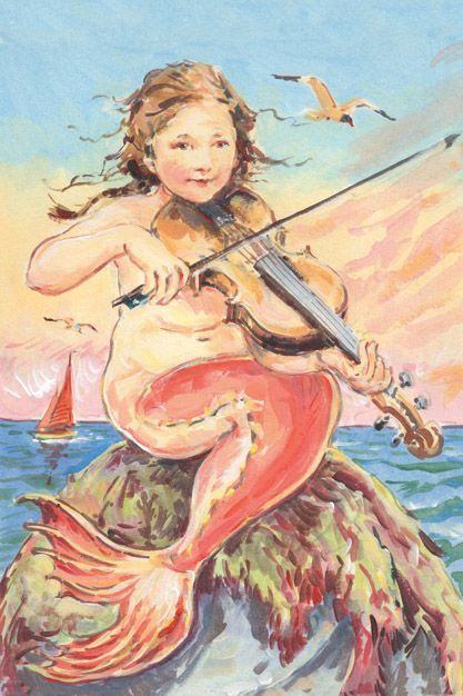 Image result for mermaid playing violin