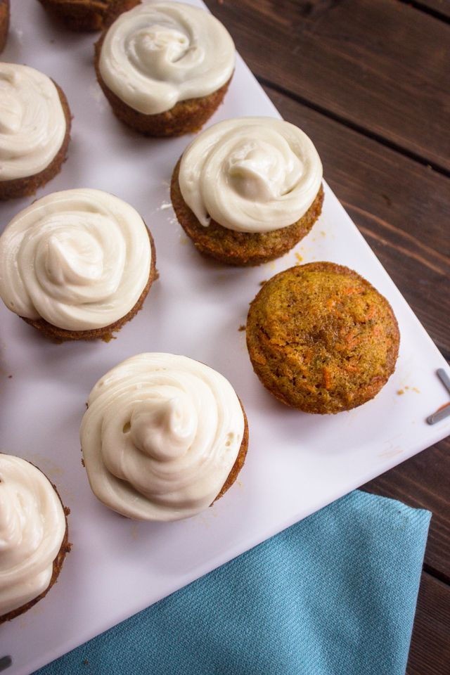 Easy Carrot Cupcakes with Cream Cheese Frosting | Brunch Time Baker