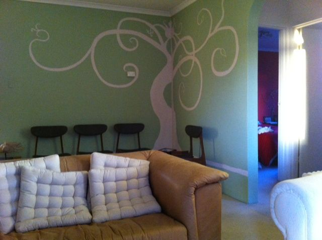 Denie's artistic flair produced this fabulous curley tree.