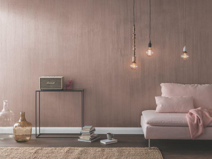 Einrichtungs Trend Metallic Rosegold Ein Extravagantes Wanddesign Alpina Farbrezepte Farben Und Tapeten Metallic Wandfarbe