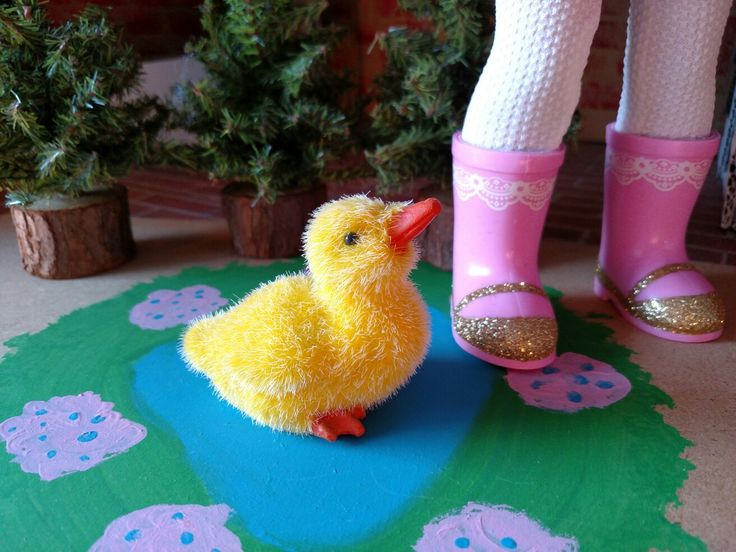 This cute little duckling is perfect for Wellie Wishers! Found at Hobby Lobby.