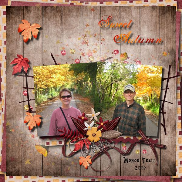 Sweet Autumn on the Monon Trail by Tbear. Kit used: Sweet Autumn collab http://scrapbird.com/kits-c-446/scrapbird-collab-c-446_113/sweet-autumn-p-16952.html