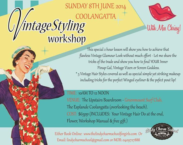 Coolangatta - A Vintage Styling Workshop with Miss Chrissy - Sunday 8th June