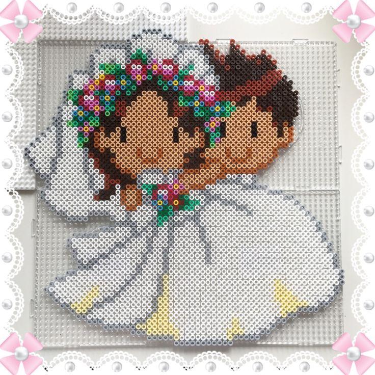 Couple - Wedding perler beads by Sofias Pysselhörna