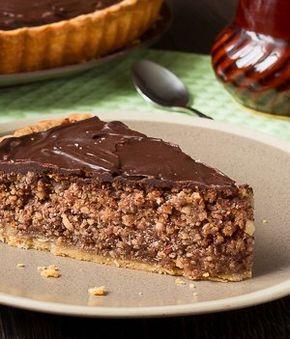 Ореховый пирог на песочной основе