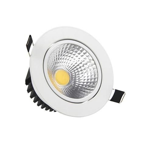 recessed led dimmable downlight cob 5w 7w 9w 12w led spot light led decoration ceiling lamp. Black Bedroom Furniture Sets. Home Design Ideas