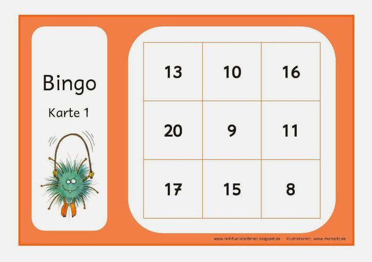 Reif für die Ferien: Mompitz - Bingo