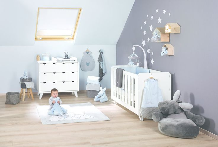 #noukies #babysroom #chambrebébé #bébé #poudredetoiles #bleu