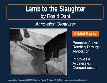 the roald dahls murder fiction lamb to the slaughter Please use your own paper don't write on this sheet questions: lamb to the slaughter st by roald dahl (english, 21 century) pages 317-324.
