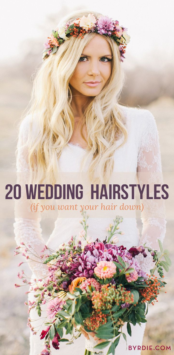 Read through for a roundup of our favorite down 'dos for the perfect wedding look