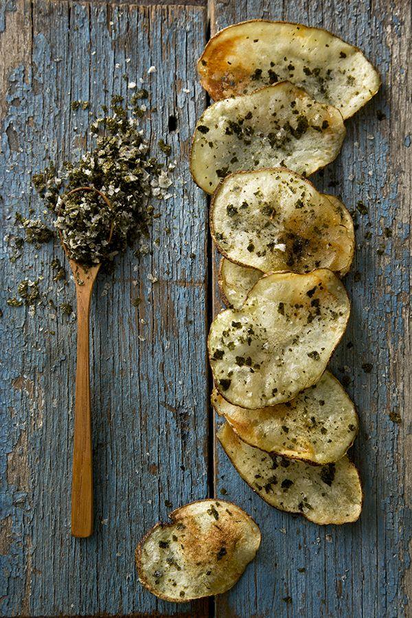 Nori Spiced Homemade Potato Chips