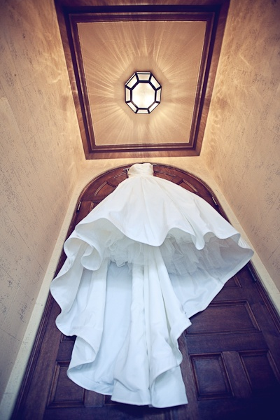 Gorgeous hanging dress shot. #weddings #dress