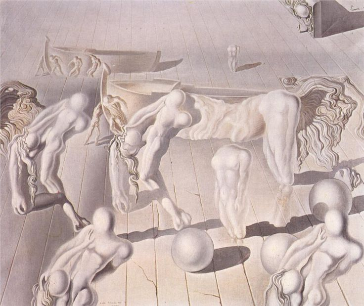 The Invisible Sleeping Woman, Horse, Lion, 1930 by Salvador Dali