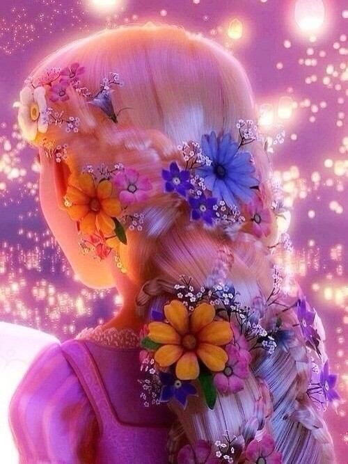 braids with flowers rapunzel inspired | ラプンツェル の画像をもっと見る?