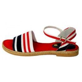 Sandalia de lona modelo marinera
