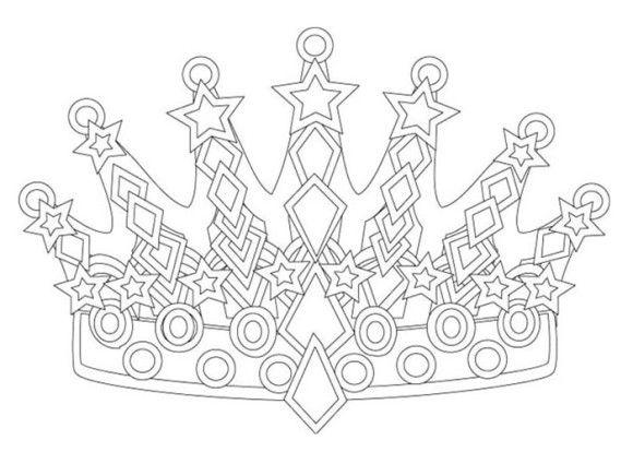 Coloring Pages Princess Crown Art Pinterest Princesses