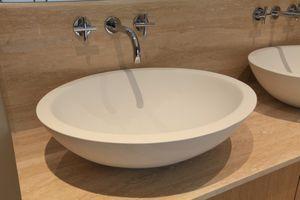 Vasque en pierre / en composite / à poser - OVALIS OVB