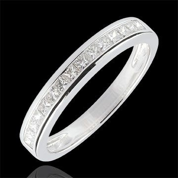 boda Anillo diamantes princesa engaste carril - 0.36 quilates