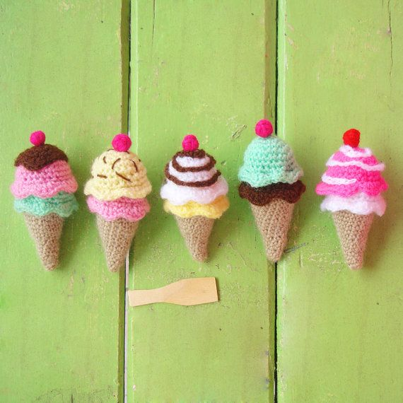 135 best crochet food and kitchen goodies images on pinterest crochet toy pattern ice cream amigurumi pdf ebook sweet by bysol 400 fandeluxe Gallery