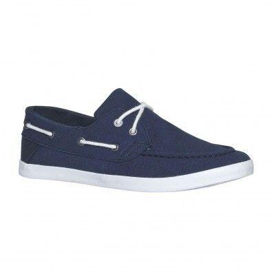 Chaussures bateaux en toile à lacets