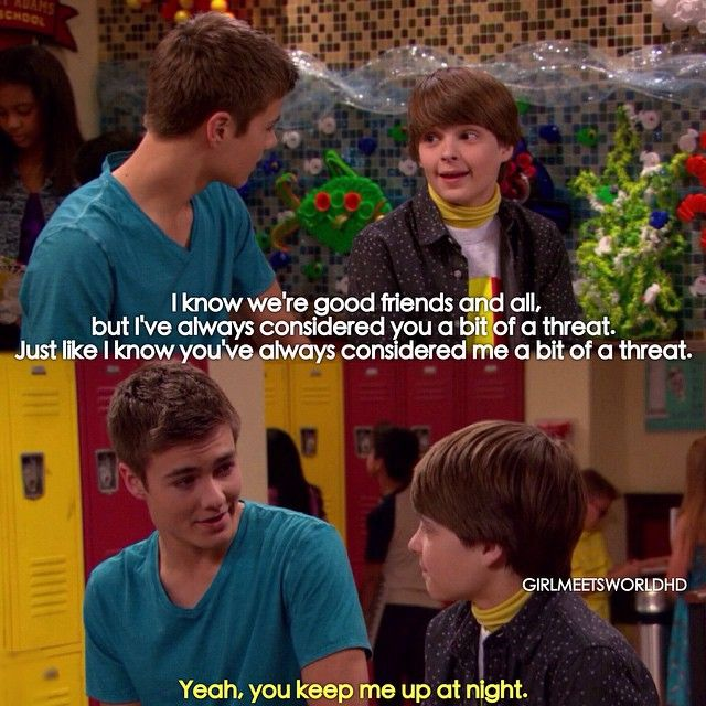"girl meets world farkle quotes Boy meets world vs girl meets world girl meets world had farkle agonize over getting the diagnosis, but riley and maya basically just said, ""it's fine."