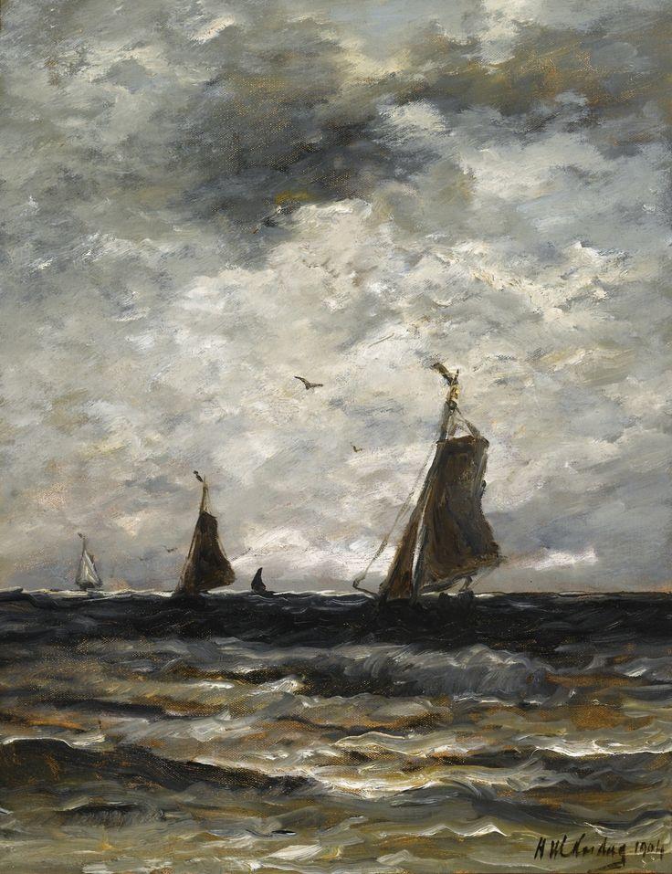 Fishing Vessels at Sea, 1904, Hendrik Willem Mesdag