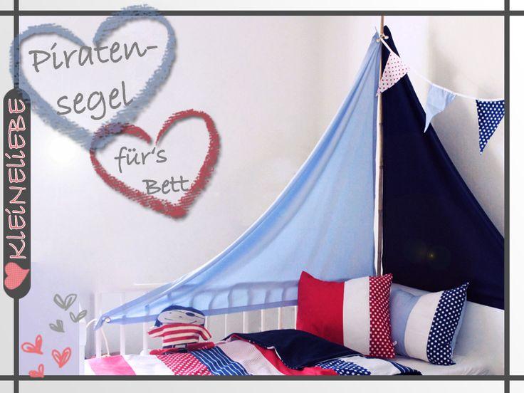 Vorbei sind die Zeiten der langweiligen Betthimmel.  Mit diesem Segel verwandelt sich das Kinderzimmer im handumdrehen in ein Piratenschiff.