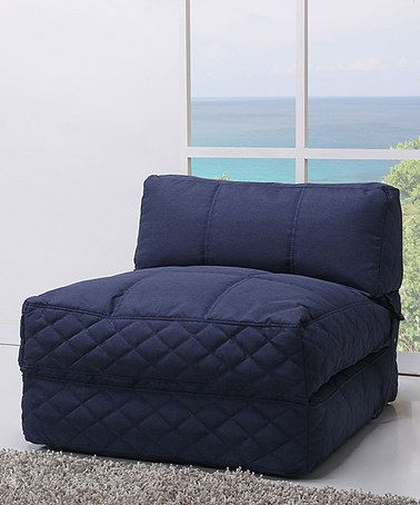Another great find on #zulily! Blue Austin Bean Bag Chair Bed #zulilyfinds