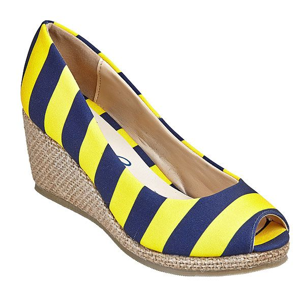 lillybee - Univeristy of Michigan Wedges, $88.00 (http://www.lillybee.com/univeristy-of-michigan-wedges/)