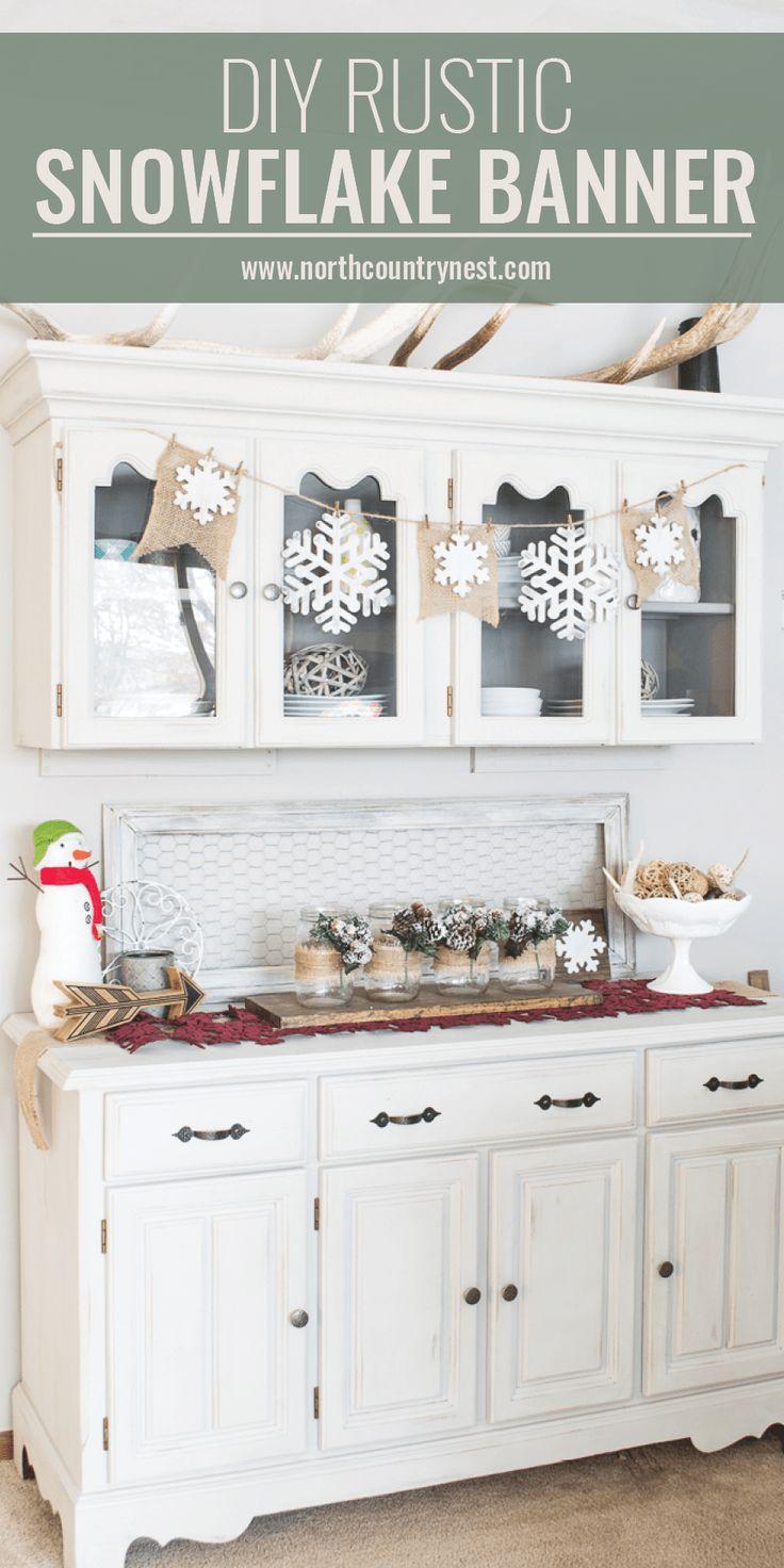 Two DIY Rustic Farmhouse Winter Home Decor Crafts