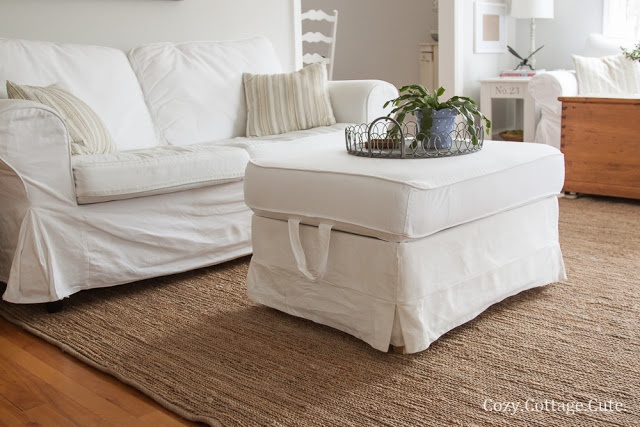 Cozy cottage cute cleaning tutorial how i wash my white ikea slipcovers furniture White loveseat slipcovers