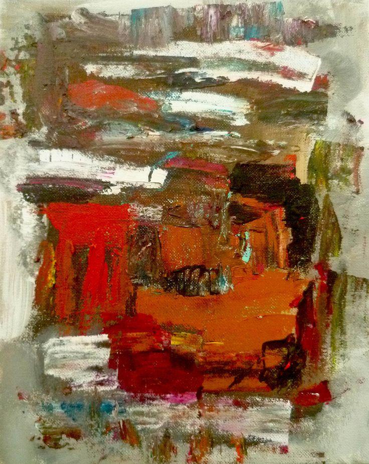 """""""Central park"""" peinture acrylique réalisée sur carton entoilé. Original de l'artiste Soffya. 30 cm x 24 cm. Pièce unique : création originale de Soffya. © Tous droits réservés (article L 112-1 du code de la propriété intellectuelle)."""