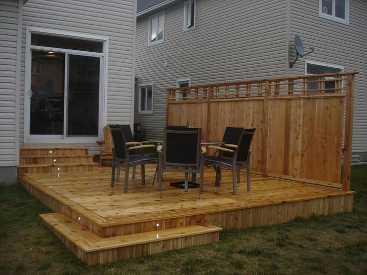 12 best images about deck ideaa on pinterest supply list for Backyard deck privacy ideas