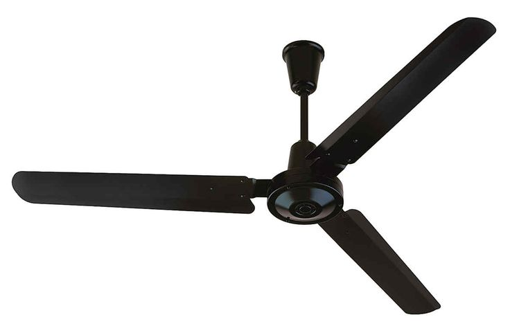 Modern Style Black Color Ceiling Fan Design With Three