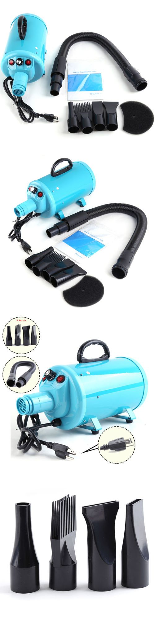 Dryers 146240: Pet Dryer Portable Air Mover Blower Heater Grooming Blue 4 Nozzle Animals Hair -> BUY IT NOW ONLY: $53.77 on eBay!