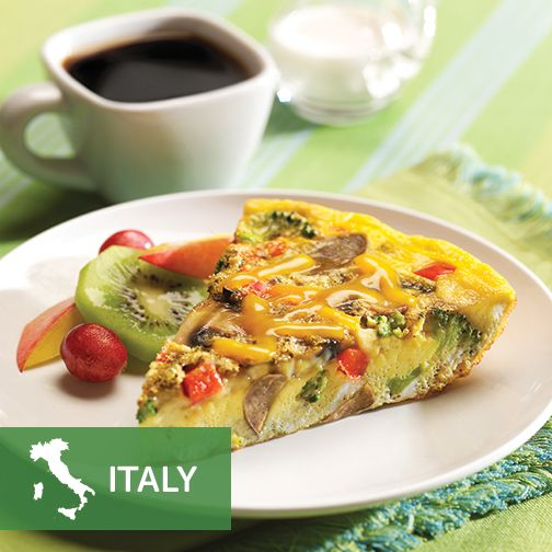 Believe it or not, you can have Italian for breakfast. #VegMeetsWorld