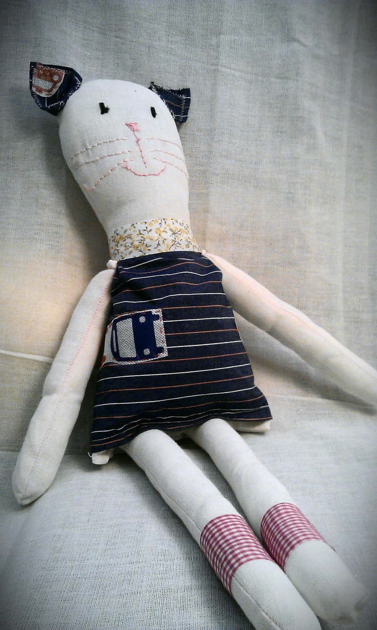 Handmade animal rag dolls: