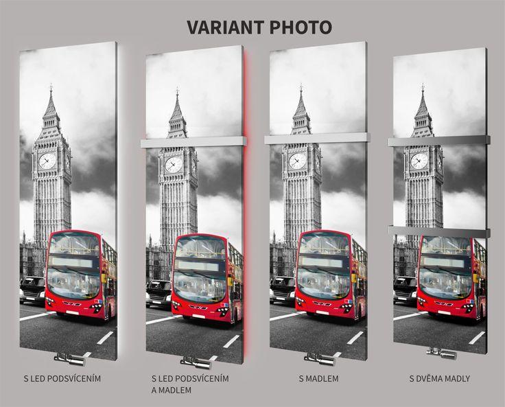 Variant Photo s LED podsvícením, madlem nebo dvěma madly