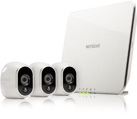 Netgear Arlo VMS3330-100EUS Smart Home 3 HD-Überwachung Kamera-Sicherheitssystem (100% kabellos, Indoor/Outdoor, Bewegungssensor, Nachtsicht) weiß
