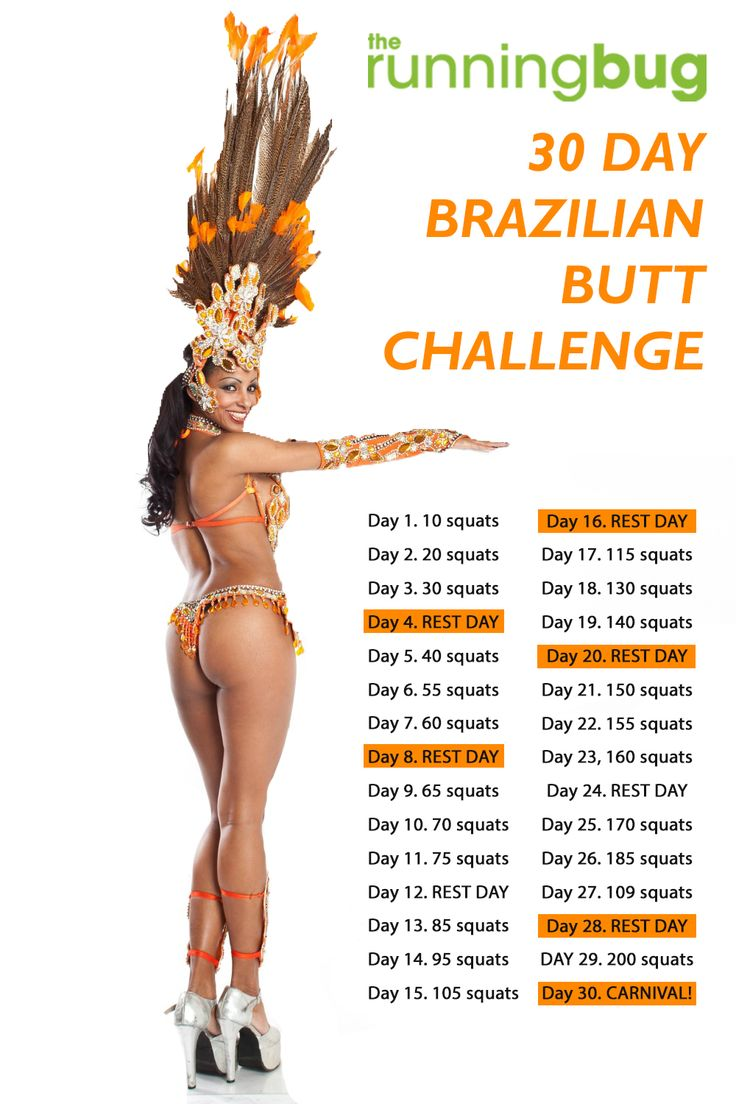 This 30-Day Fitness Challenge Will Make You Feel Like A Badass Try this 30 day Brazilian butt challenge and squat to it.