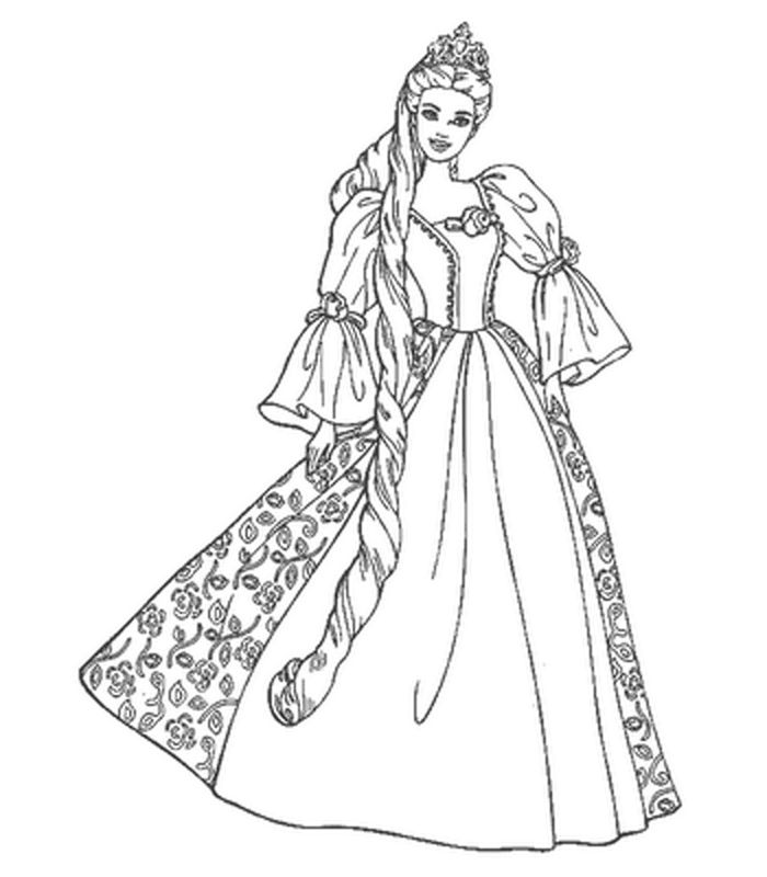 Barbie from Three Musketeers coloring page | Coloring pages | 800x700