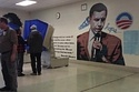 WHAT ELSE WOULD YOU EXPECT??? ~~ Philadelphia Voting Booths Are Placed Next To Obama Mural!!!!